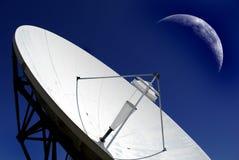 Plat de transmission par satellite Photographie stock libre de droits