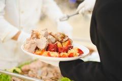 Plat de viande au restaurant Photographie stock