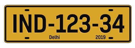 Plat de voiture de Delhi illustration stock