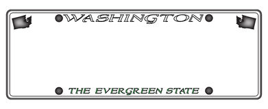 Plat de Washington License illustration stock