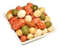 Plat des biscuits croquants d'arachide Image libre de droits