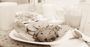 Plat des biscuits pour le petit déjeuner Image stock
