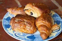 Plat des croissants Photo libre de droits