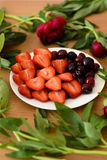 Plat des fruits Photo stock
