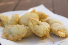 Plat des huîtres battues cuites à la friteuse de bluff Photos libres de droits