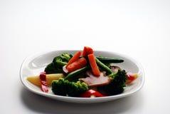 Plat des légumes image stock