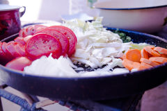 Plat des légumes Photographie stock libre de droits