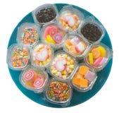 Plat des sucreries Photo stock