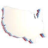 Plat dimensionnel de copyspace formé par pays des Etats-Unis d'isolement illustration de vecteur