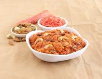 Plat doux indien de Halwa de carotte Image stock