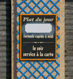 Plat du jour restaurant sign Stock Image