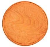 Plat en bois pour la pizza Photos stock