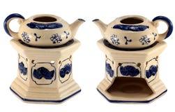 Plat en céramique de fondue Photographie stock