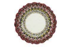 Plat en céramique Tabak de la Turquie Kutahya çini Photo stock