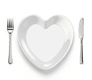 Plat en forme de coeur Photos stock