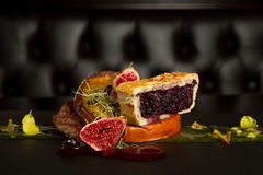 Plat gastronome de canard Image stock