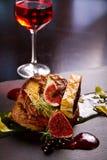 Plat gastronome de canard photo stock