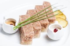 Plat gelé de viande Photographie stock libre de droits