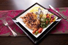 Plat grillé par poulet Images stock
