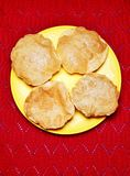 Plat indien populaire Poori photo stock