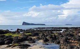 Plat l'isola, Mauritius Immagini Stock