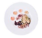 Plat mélangé de fruits de mer Photo stock