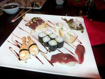 Plat mélangé de sushi Photos stock