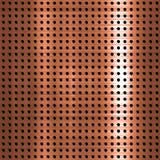 Plat métallique de cuivre balayé Images stock