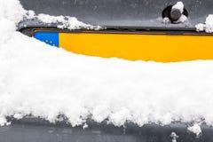 Plat néerlandais de carte grise avec la neige Photos libres de droits