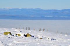 Platô nevado da montanha Foto de Stock Royalty Free