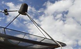 Plat satellite de récepteur de vague de signal pour la télévision Photographie stock