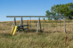 Plat structure. Abandoned play structure in tall grass Royalty Free Stock Images