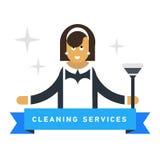 Plat support d'illustration au trait des appareils ménagers, illustration stock