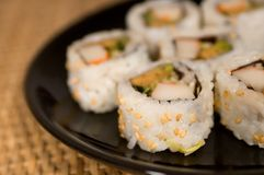Plat of sushi Stock Images