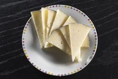 Plat traité de fromage, type de Manchego, Espagne photographie stock libre de droits