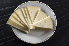 Plat traité de fromage, type de Manchego, Espagne photos stock