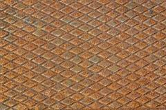 Plat utilisé rouillé de diamant en métal images libres de droits
