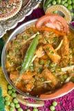 Plat végétarien indien, paneer de Mattar. photos libres de droits