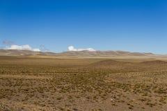 Platô vasto de Desertica nas montanhas Imagem de Stock