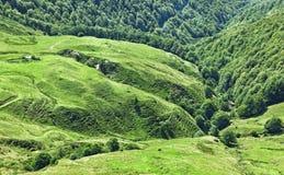 Platô vulcânico em Cantal Foto de Stock