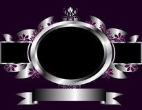 Plata abstracta y diseño floral púrpura del vector ilustración del vector