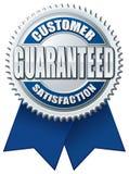 Plata azul garantizada satisfacción del cliente Imágenes de archivo libres de regalías