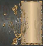 Plata con oro Foto de archivo libre de regalías