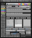 Plata de los elementos del diseño de Web Imagen de archivo libre de regalías