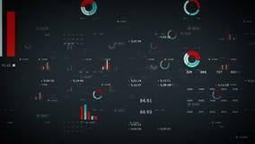 Plata de los gráficos y de los datos de negocio ilustración del vector