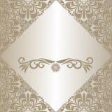 Plata de lujo un marco, adornado un ornamento. Imagen de archivo