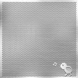 Plata del metal de la parrilla con el pájaro de la música Foto de archivo