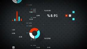 plata del movimiento en sentido vertical de los datos de negocio 4K libre illustration