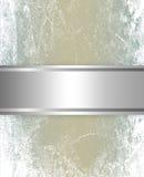 Plata elegante y fondo marrón Fotografía de archivo