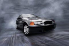 Plata hermosa de la velocidad sportcar en el camino Foto de archivo libre de regalías